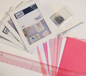 Supplies for Easy Art Prints from Envelopes Pop Shop America Cool Crafts
