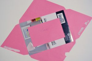 Measure and Cut your Ombre Pop Art from Recycled Paper