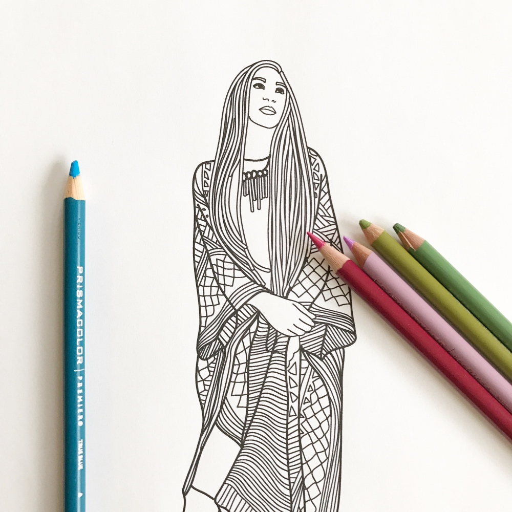 87 Coloring Pages For Adults Fashion