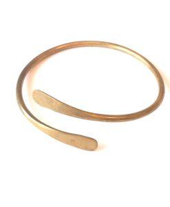 hand-hammered-brass-spiral-bangle