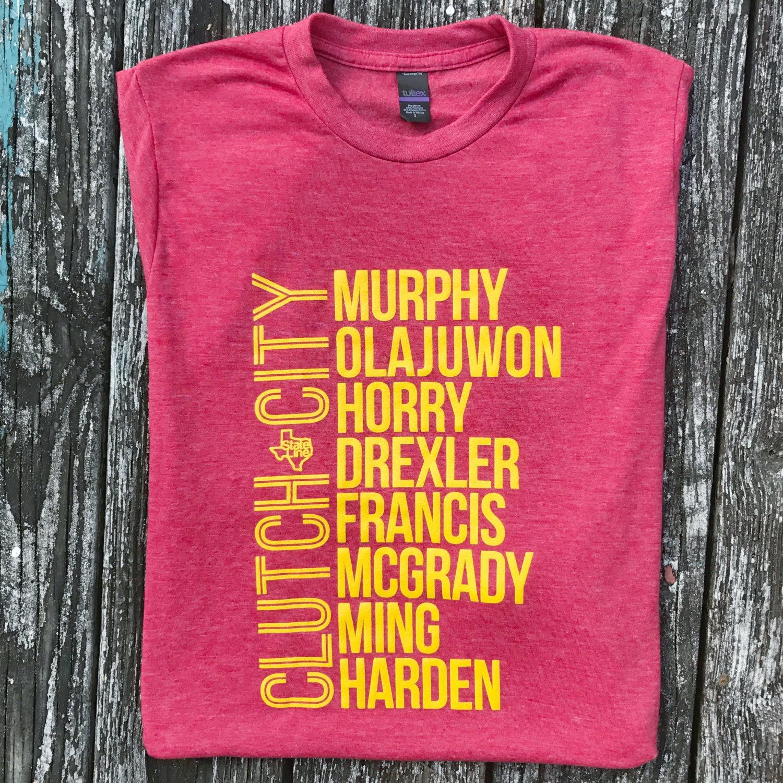 Mens Tshirts Stateline Design Clutch City Basketball Houston Rockets