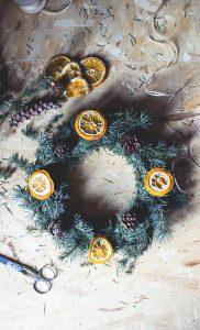 DIY Natural Christmas wreath result