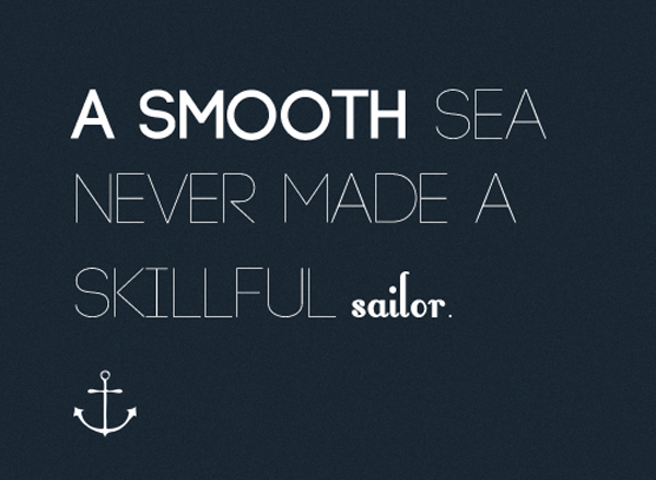a smooth sea quote by pop shop america