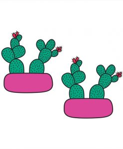 cactus terrarium temporary tattoos pop shop america