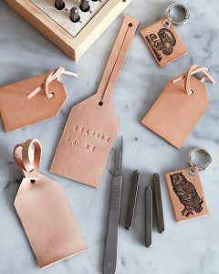 diy leather luggage tags pop shop america