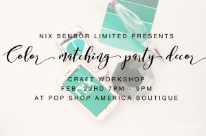 nix color matching craft workshop houston pop shop america