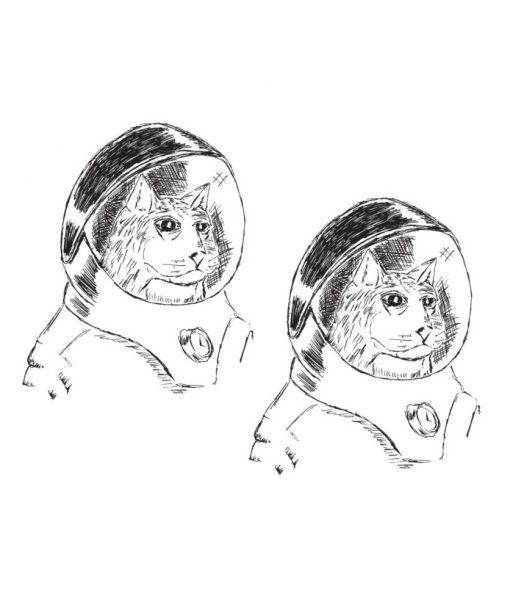 space kitten temporary tattoos