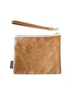 tumbled leather clutch by zana