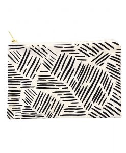 wild stripes canvas clutch by zana