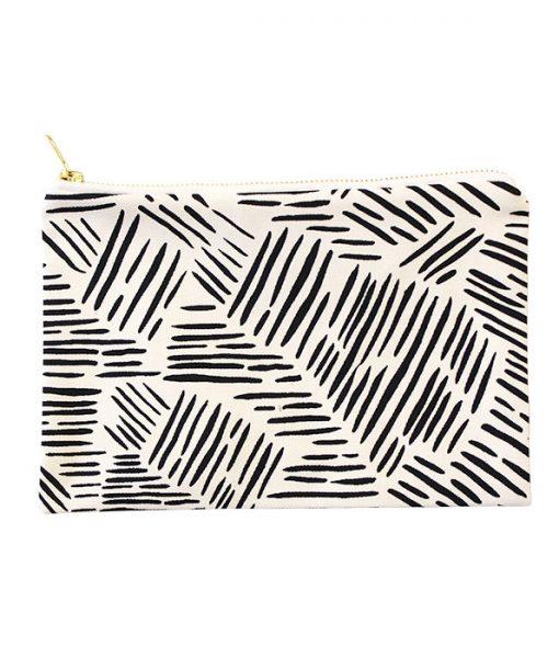 wild stripes canvas clutch by zana