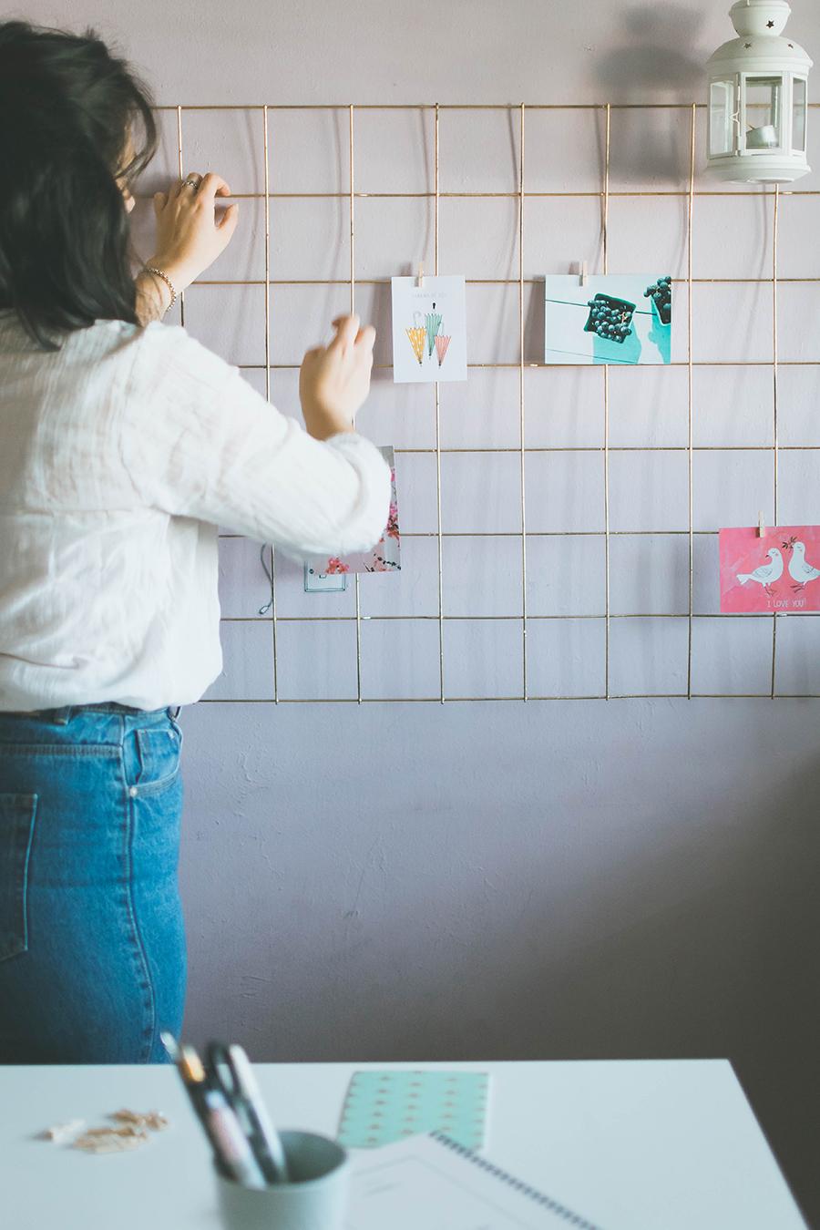 How to Arrange Diy Grid Mood Board