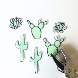 cactus and succulent cut outs for earrings