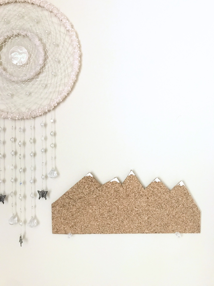 finished snowy mountain cork board diy pop shop america