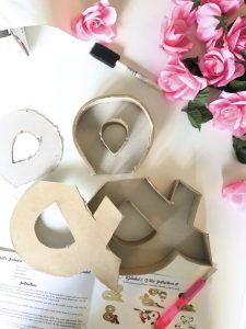 floral ampersand diy kit by home made luxe sub box