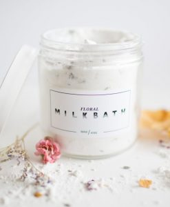 floral milk bath - bath soak by lovely handmade in texas