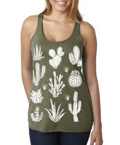 green cactus tank top cotton t shirts pop shop america