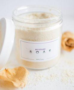 mustard soak - handmade bath soak made in texas