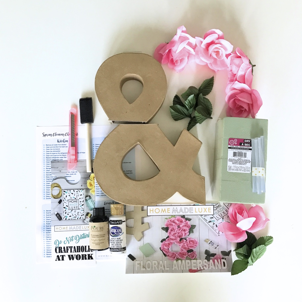 supplies inside the home made luxe diy subscription box