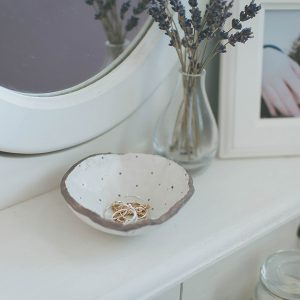 DIY Jewelry Plates with air drying clay