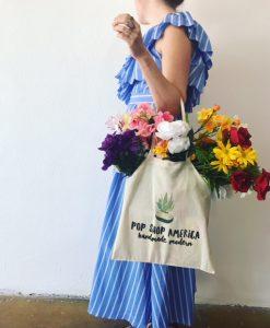 succulent tote bag by pop shop america diy