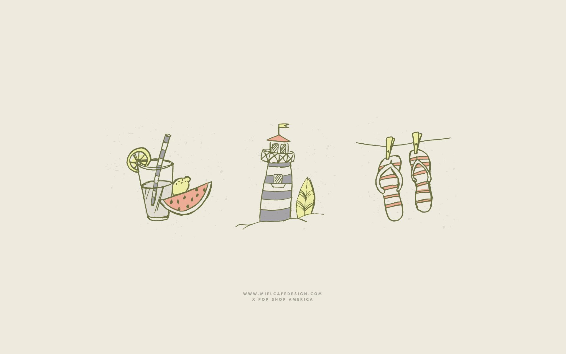 Free Download Desktop Summer Wallpaper by Miel Café Design