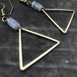 brass and quartz earrings turqoise t rex winner pop shop america art awards