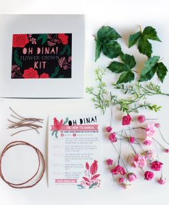 make your own blush pink flower crown pop shop america