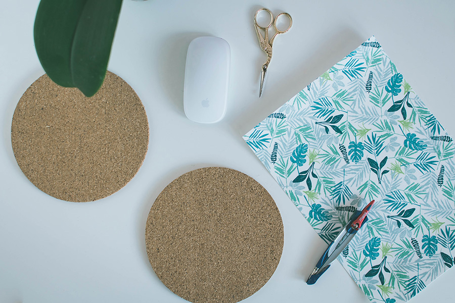 DIY Pattern Mouse Pad Materials