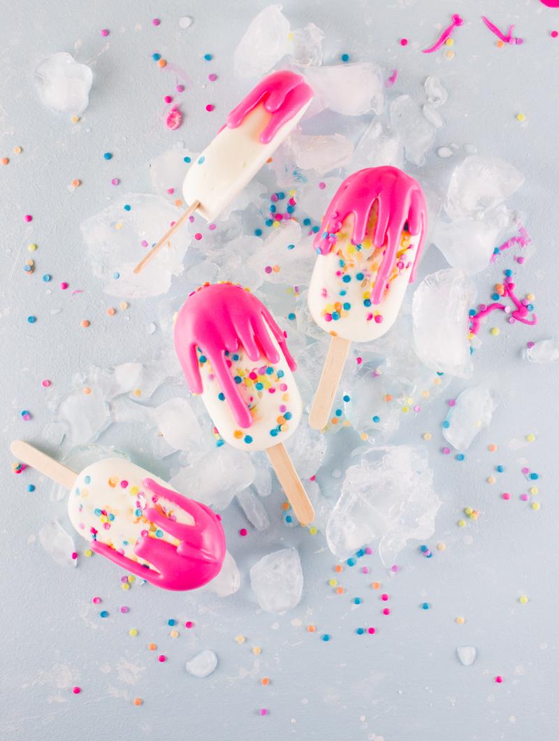 rainbow cake batter popsicles recipe